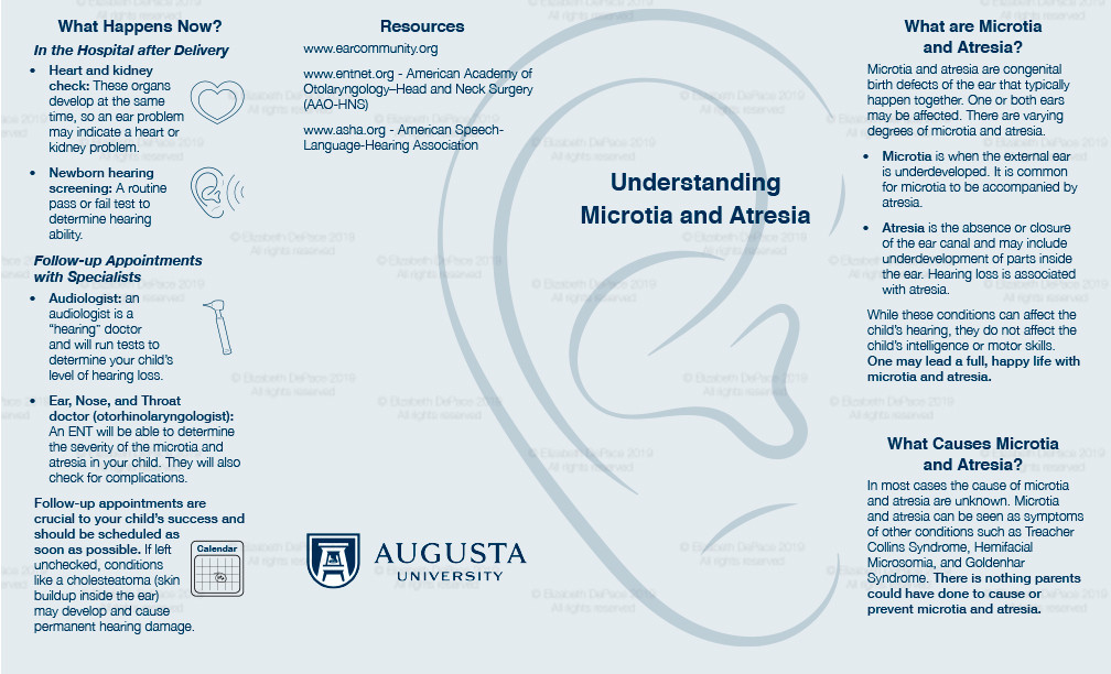 Microtia and Atresia brochure Front
