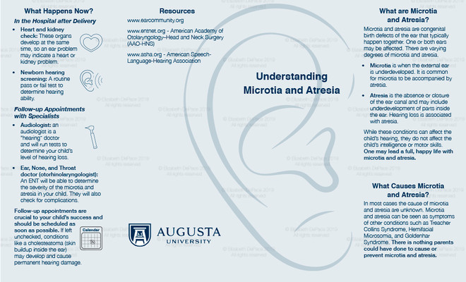 Microtia and Atresia brochure Front