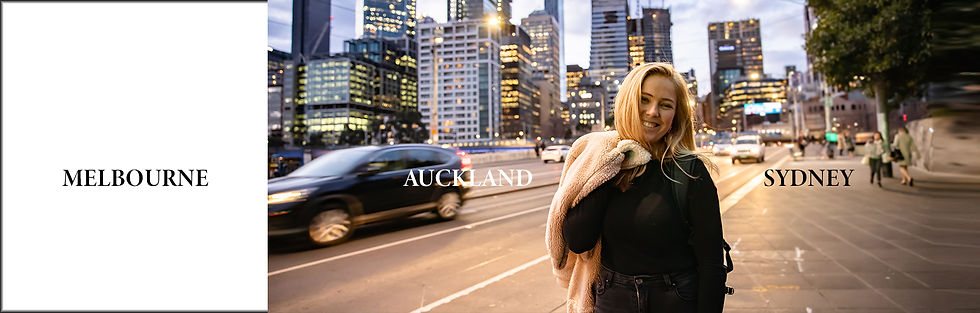 Melbourne Sydney Auckland Nightlife Citylife Chic Model Cover Girl Long Exposure Slow Shutter speed