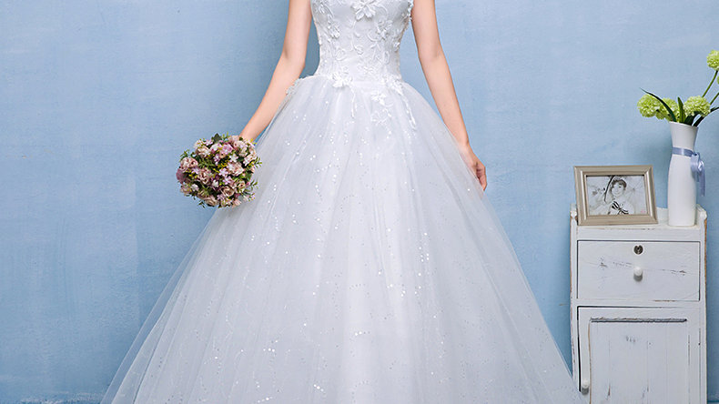 Sparkly Chiffon Wedding Dress