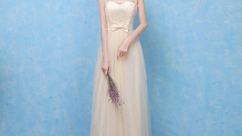 Champagne Chiffon Bridesmaid Dress