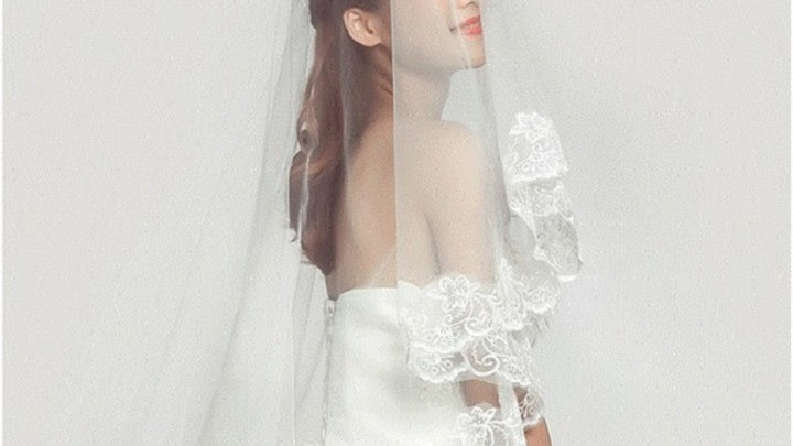 Veil One- Circular Design Single Layer 1.4m White Veil