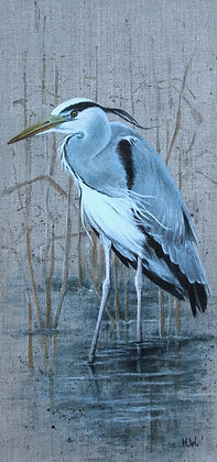 'Grey Heron' by Helen Welsh