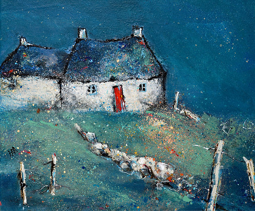 'Blue Cottage, Labost' by Helen Acklam