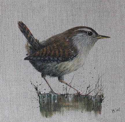 'Wren on Post' by Helen Welsh