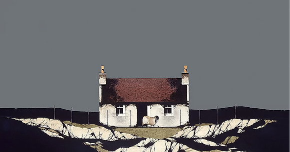 'Barra Red Roof' by Ron Lawson