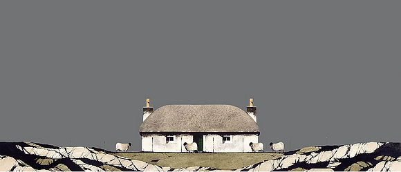 'North Uist Thatched Cottage' by Ron Lawson