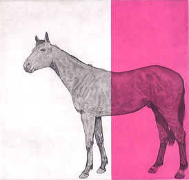 Guy Allen-Horse Study Fuschia_Alpha Art_