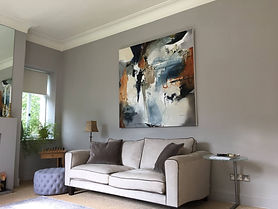 Natasha Barnes painting in its new home