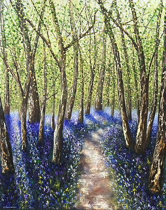 'Bluebell Path' by Elena Guillaumin
