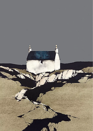 'Vatersay Cottage' by Ron Lawson