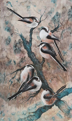 'Long tailed tits' by Helen Welsh
