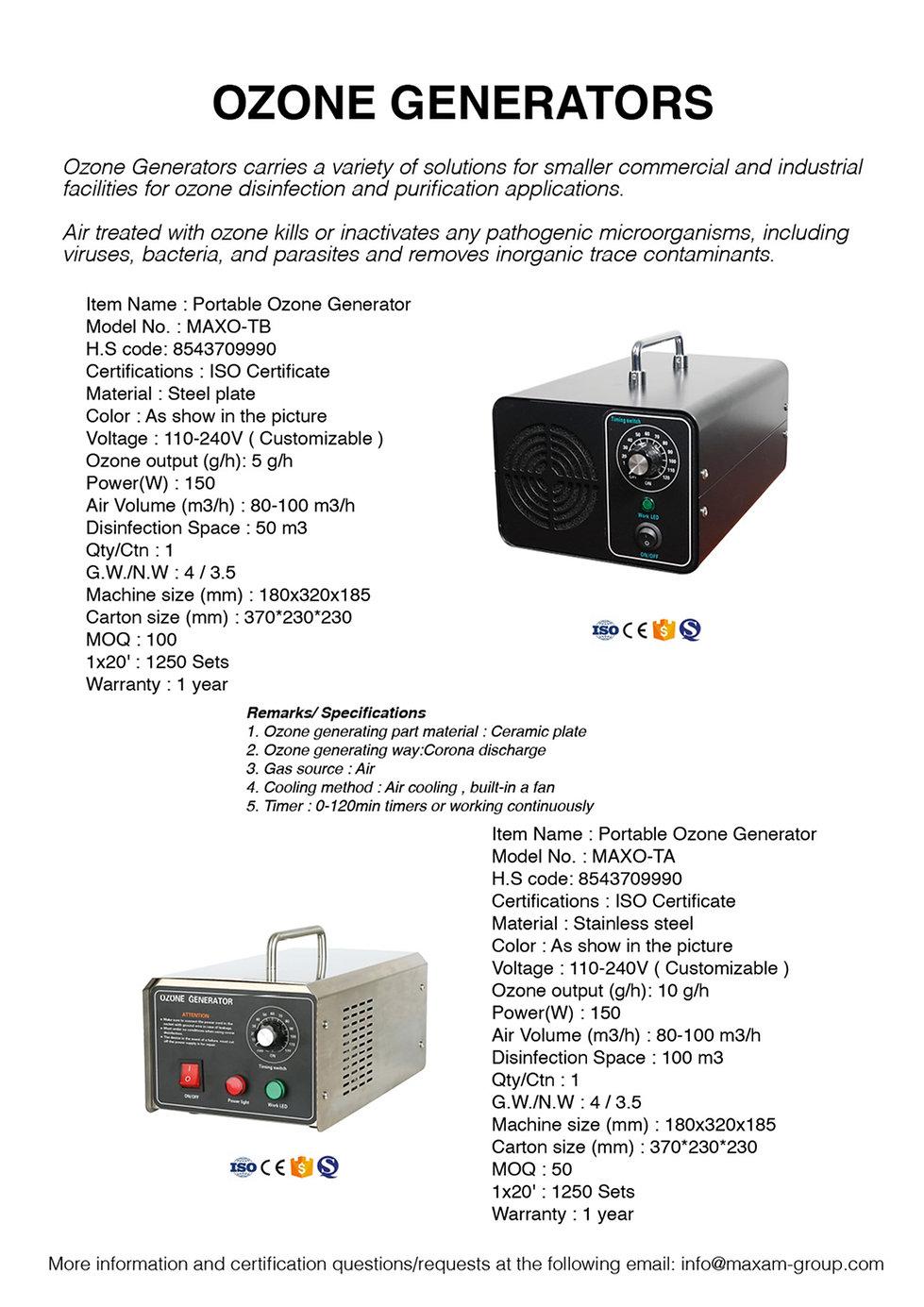 MAXAM Ozone Generators website.jpg
