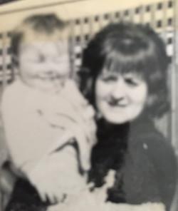 Mum and I aged 6mths