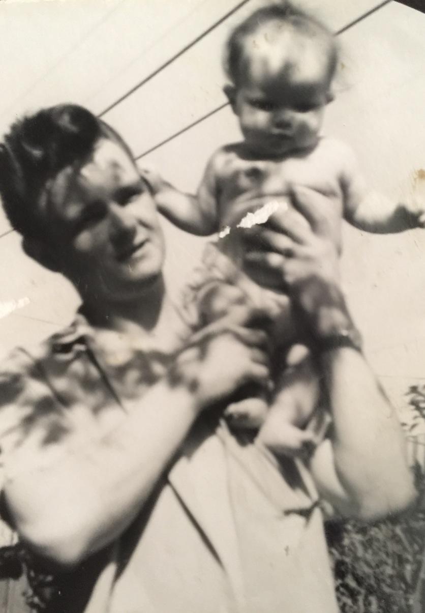 Dad & I Aged 2mths