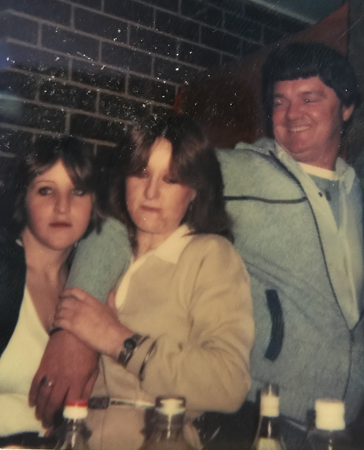 Nat, Me and Dad New Year 1980