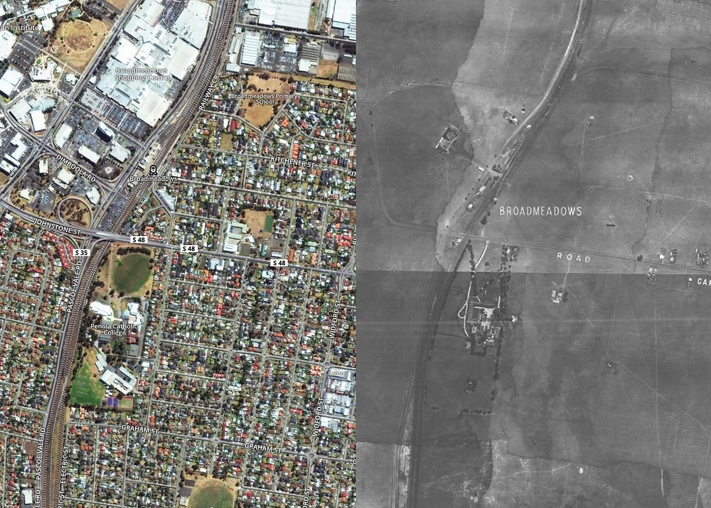 Broadmeadows then and now