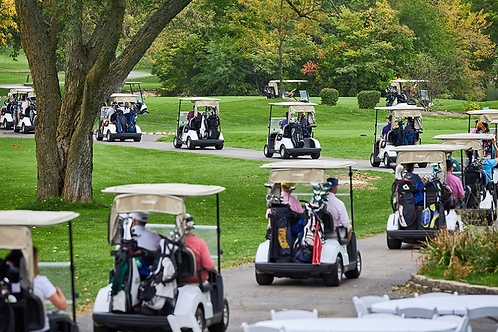 Golf three players carts & lunch at turn.