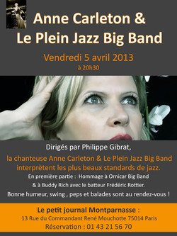 Anne Carleton en big band