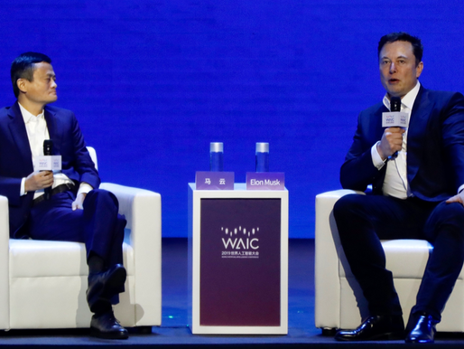 Elon Musk and Jack Ma met on the stage