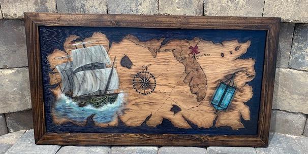 Florida Pirate Map