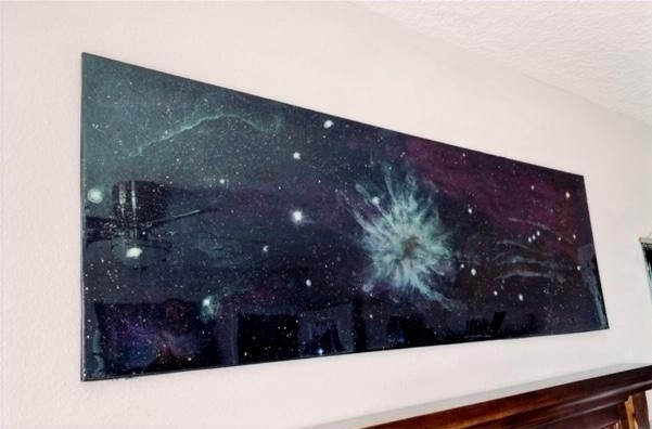 Galaxy Resin Painting