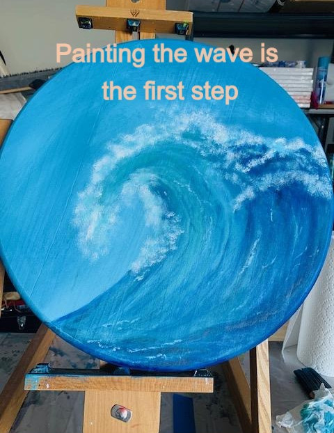 Painted wave: Step 1