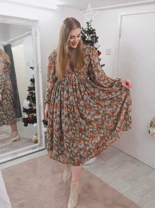 GHOSPELL Floral Midi Dress