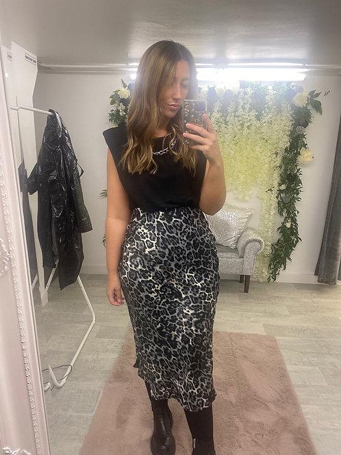 A LITTLE BIT WILD Bias Cut Skirt