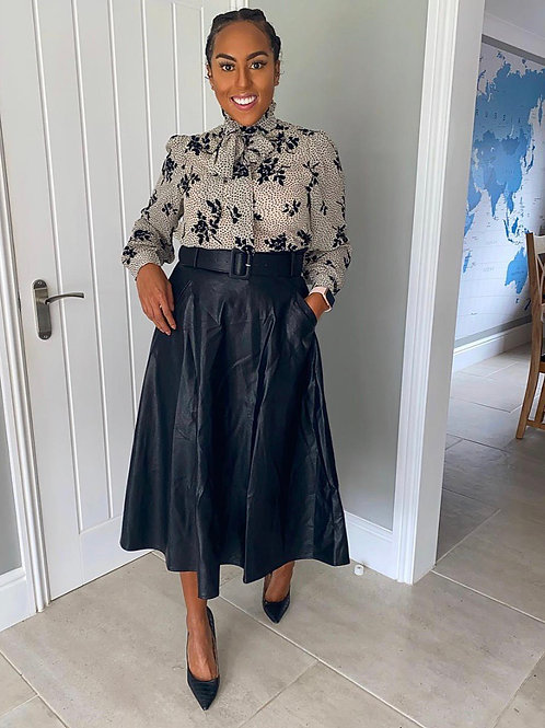 YOU LEATHER KNOW Midi Skirt