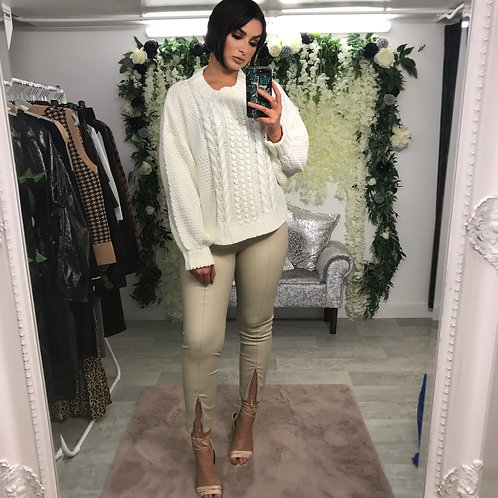 DOLLY Cable Knit Jumper