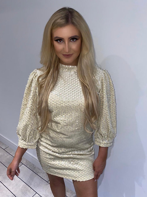 ALL OUT GLAM Sequin Dress