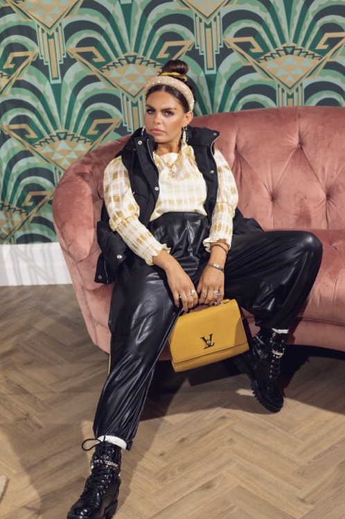 FOR FAUX SAKE Wide Leg Leather Joggers