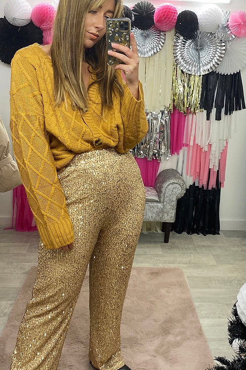 THE SHINE IS RIGHT Sequin Trousers