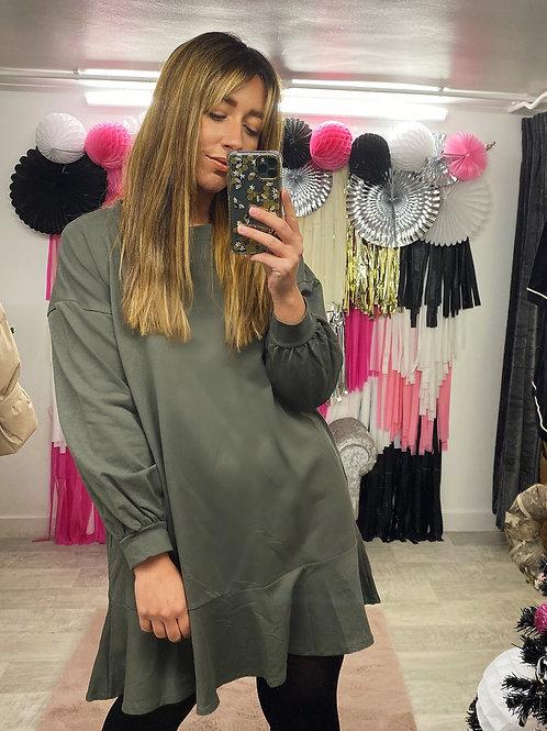 RUFFLE & READY Sweater Dress