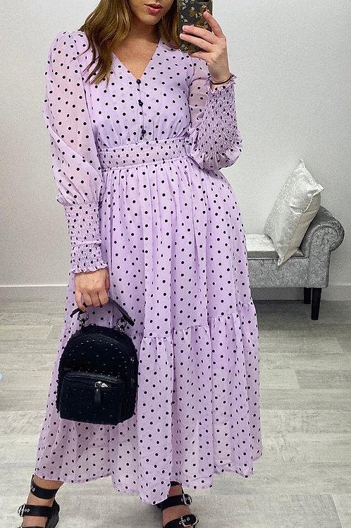 PURPLE REIGN Midi Dress