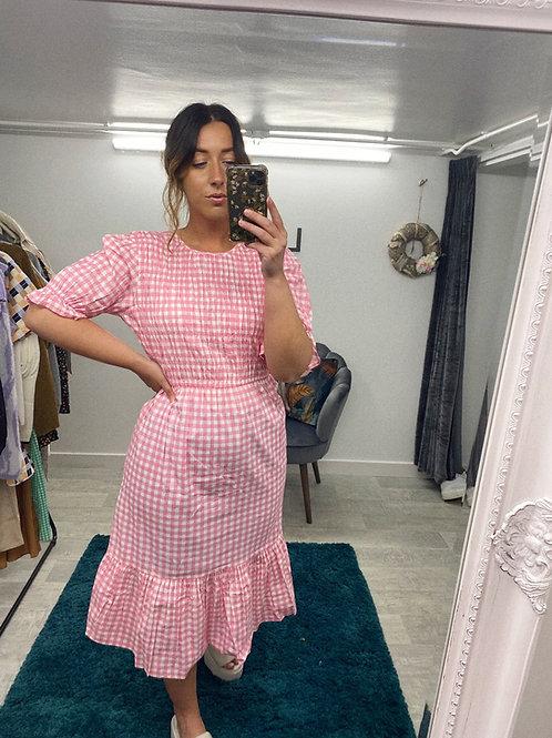 PINK TO MAKE THE BOYS WINK Midi Dress