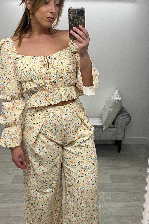 SQUEEZE THE DAY Wide Leg Trousers