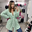 Thumbnail: GREEN WITH ENVY Sequin Wrap Dress
