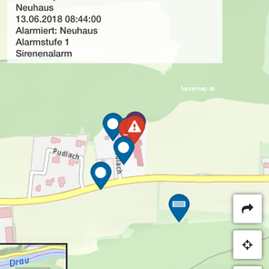 Brandmelder-Alarm SZ Neuhaus