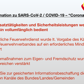 "Information zu SARS-CoV-2 / COVID-19 – ""Coronavirus"""