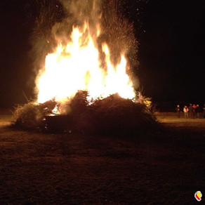Osterfeuer in Pudlach