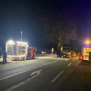 T VU 1, Verkehrsunfall im Kreuzungsbereich Neuhaus/B81