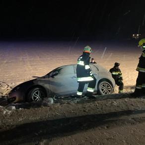 T1 - Verkehrsunfall auf B81 Höhe Schwabegg