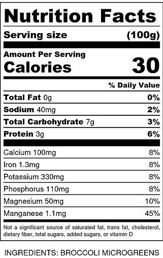 _LEF Broccoli Microgreens - Nutrition La