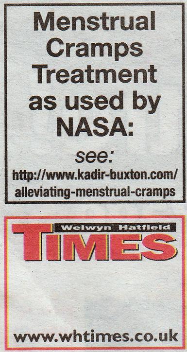 Menstrual Cramps WHT Advert May 31 2017.