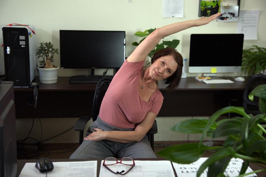 Офисный синдром - упражнения для пищевар