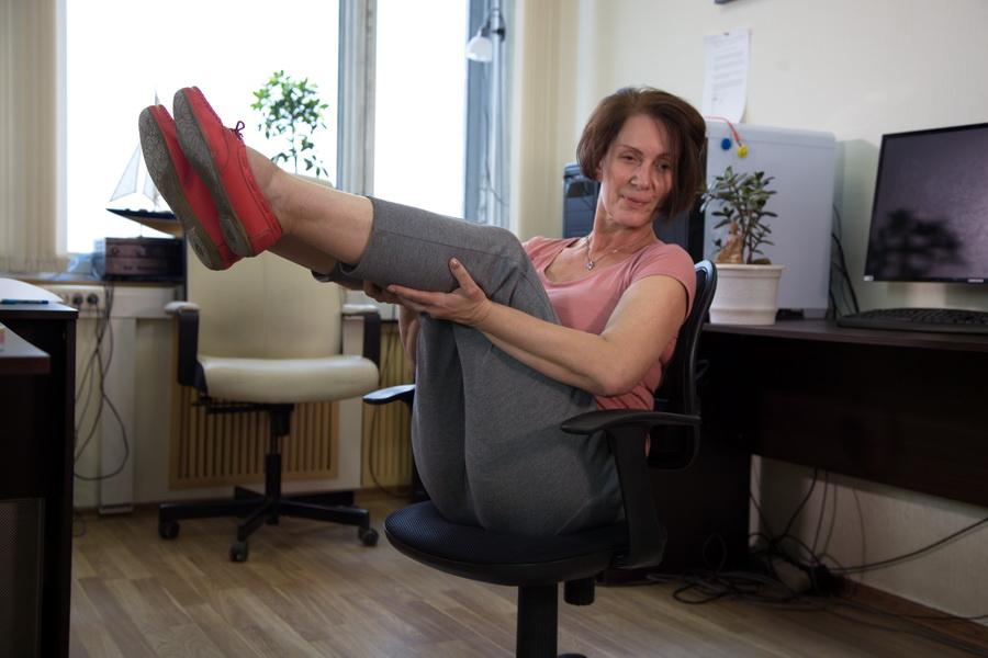 Офисный синдром - упражнения