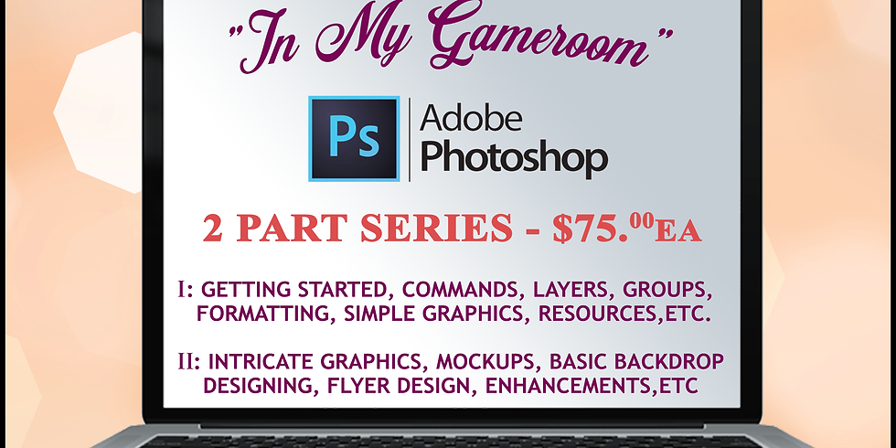"""""""In my Game Room"""" Photoshop Course Part 2"""