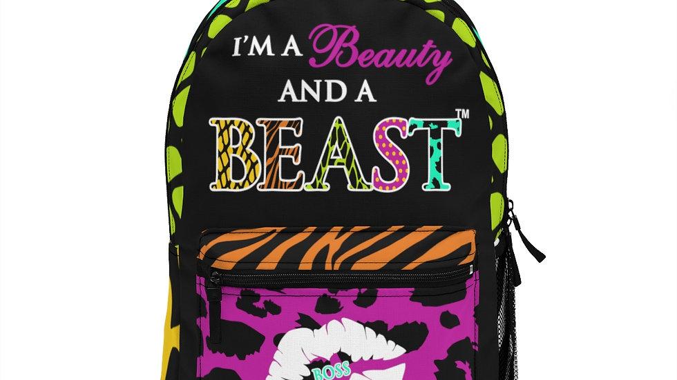 Exotic Beauty and Beast Bookbag